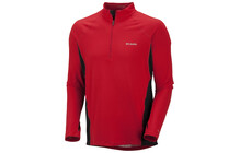 Columbia Men&#039;s Baselayer Midweight LS 1/2 Zip intense red
